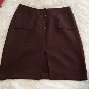 Vintage Skirts - VTG Herry Brown Button Up Mini Skirt